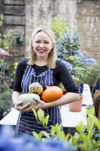 Rosie Birkett With Pumpkins by Uyen Luu