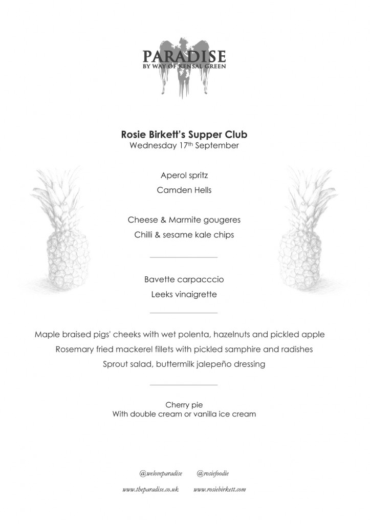 Rosie Birkett Supper Club